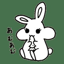 Bunny graffiti sticker #9887197