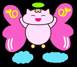 "Macrocosm's Healing Bird Cat Elf ""NAYOC"" sticker #9896946"