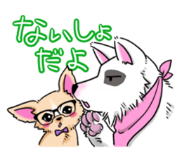 Large dog and glasses Chihuahua sticker #9910010