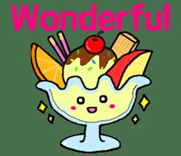 Pretty dessert sticker of English sticker #9915356