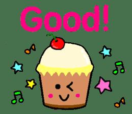 Pretty dessert sticker of English sticker #9915364