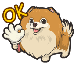 Hi! Pomeranian sticker #9929595