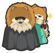 Hi! Pomeranian sticker #9929614