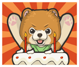 Hi! Pomeranian sticker #9929626