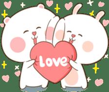 TuaGom : Puffy Bear & Rabbit 2 sticker #9931355