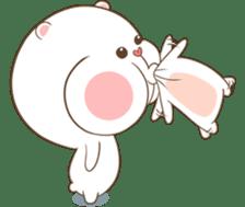 TuaGom : Puffy Bear & Rabbit 2 sticker #9931357