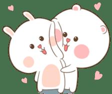 TuaGom : Puffy Bear & Rabbit 2 sticker #9931359