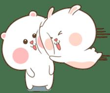 TuaGom : Puffy Bear & Rabbit 2 sticker #9931364