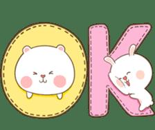TuaGom : Puffy Bear & Rabbit 2 sticker #9931376