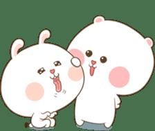 TuaGom : Puffy Bear & Rabbit 2 sticker #9931378