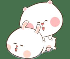 TuaGom : Puffy Bear & Rabbit 2 sticker #9931389