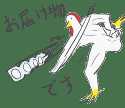 Muscled birds sticker #9935238