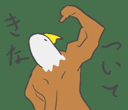 Muscled birds sticker #9935245
