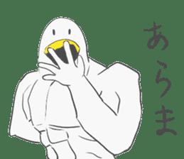 Muscled birds sticker #9935251