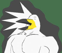 Muscled birds sticker #9935253