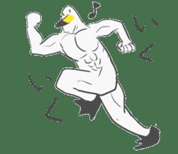 Muscled birds sticker #9935254