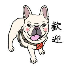 French bulldog  Chinese  Sticker