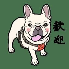 French bulldog  Chinese  Sticker sticker #9936952