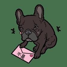 French bulldog  Chinese  Sticker sticker #9936954