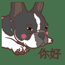 French bulldog  Chinese  Sticker sticker #9936960
