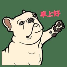 French bulldog  Chinese  Sticker sticker #9936962