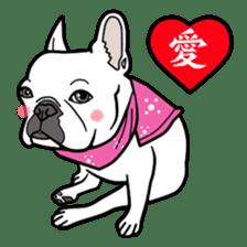 French bulldog  Chinese  Sticker sticker #9936968
