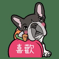 French bulldog  Chinese  Sticker sticker #9936969