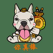 French bulldog  Chinese  Sticker sticker #9936975