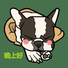 French bulldog  Chinese  Sticker sticker #9936986