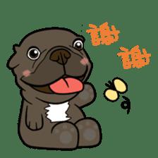French bulldog  Chinese  Sticker sticker #9936991