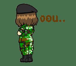 Pretty Soldier sticker #9954226