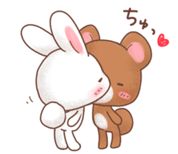 Rabbit & Bear's loves ticker.Rabbit ver. sticker #9958137
