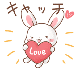 Rabbit & Bear's loves ticker.Rabbit ver. sticker #9958143
