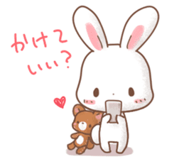 Rabbit & Bear's loves ticker.Rabbit ver. sticker #9958147