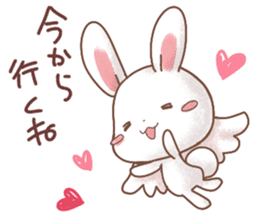 Rabbit & Bear's loves ticker.Rabbit ver. sticker #9958148