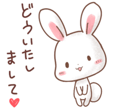 Rabbit & Bear's loves ticker.Rabbit ver. sticker #9958162