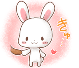 Rabbit & Bear's loves ticker.Rabbit ver. sticker #9958172