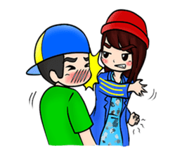 Lovey Dovey Boyfriend Girlfriend sticker #9969677