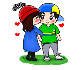 Lovey Dovey Boyfriend Girlfriend sticker #9969685