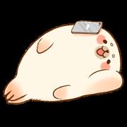 สติ๊กเกอร์ไลน์ Baby Seal A-SHU