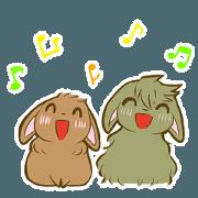 สติ๊กเกอร์ไลน์ Lop-Eared Bunnies Vol.1