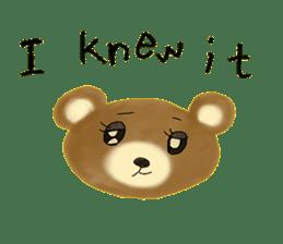 Kuma 's English lessons sticker #9991678