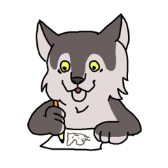 Cute wolf Sticker