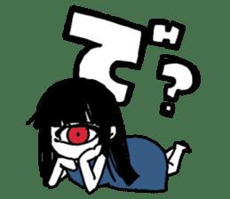 Mono Eye Girl sticker #10002806
