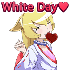 White Day of the specter Girl English