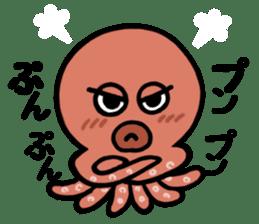 I am an octopus. sticker #10018297