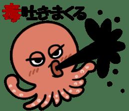 I am an octopus. sticker #10018300