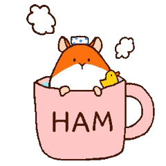 Very cute hamster stickers