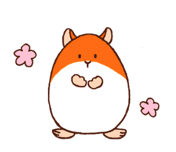 Very cute hamster stickers sticker #10033971