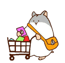 Very cute hamster stickers sticker #10033977